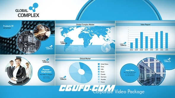 6639简洁的公司企业宣传动画AE模版,Clean Corporate