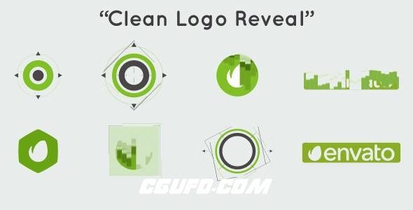 6640简洁的logo演绎动画AE模版,Clean Logo Reveal