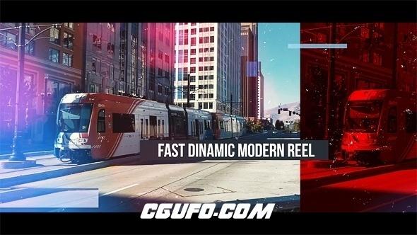6647现代感图片视频包装动画AE模版,Fast Dinamic Modern Reel