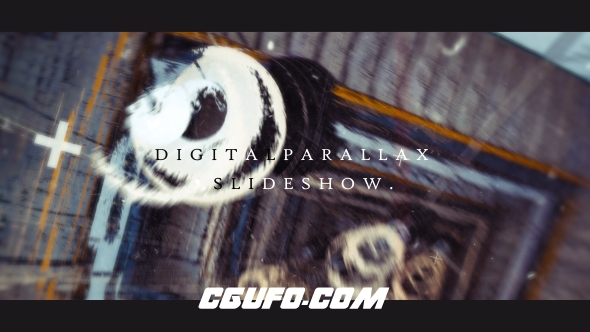 6651科技感视差分类图片展示片头动画AE模版,Digital Parallax Slideshow I Opener