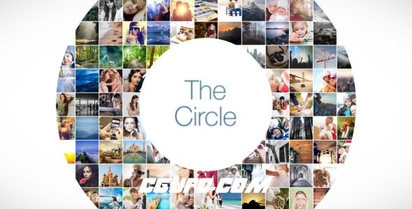 6656圆形马赛克图片展示特效动画AE模版,The Circle Mosaic Slideshow