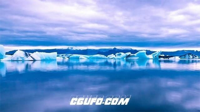2542-唯美壮观山河云海草原戈壁瀑布冰川极光自然风景高清实拍视频素材