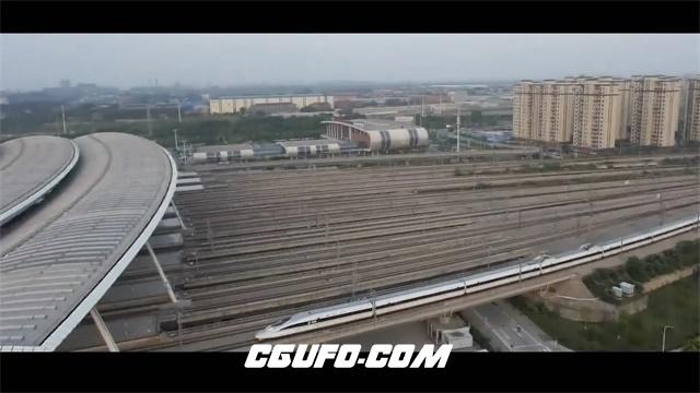 2645-武汉城市建筑特色繁华街道景色沙滩夜景高空拍摄视频素材航拍