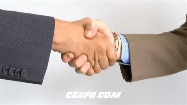 2697-成功人士握手企业公司合作认识新朋友友好握手高清实拍视频素材