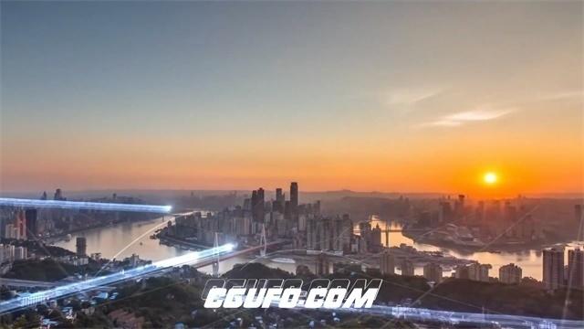 2698-城市互联网光束线性穿梭信息传递未来发展宣传片头高清实拍视频素材