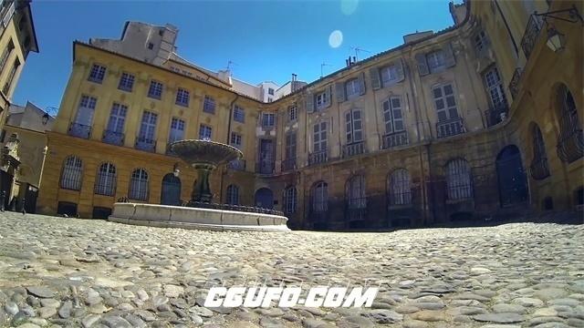 2729-古建筑典雅风格房地产视觉俯视拍摄缓慢移动镜头高清实拍视频素材