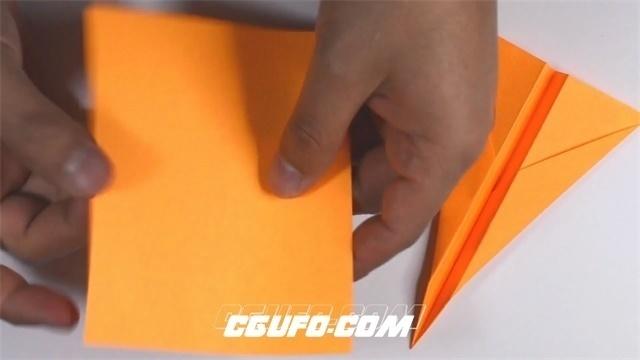 2790-彩色四方纸轻松折叠飞机小船教程人物折纸记录镜头高清视频拍摄