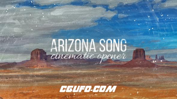 6692电影级别开场动画AE模版,Arizona Song Cinematic Opener