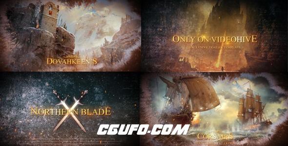 6701电影文字标题动画AE模版,Blockbuster Cinematic Trailer