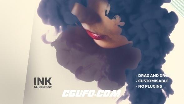 6707水墨图片包装动画AE模版,Ink Promo Slideshow