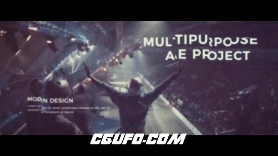 6715电影标题动画金属文字AE模版,Epic Cinematic Trailer