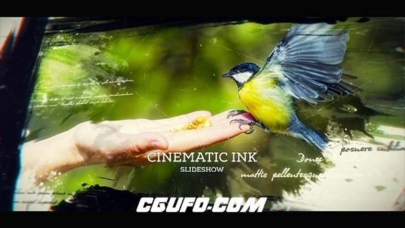 6727电影级别图片包装动画AE模版,Cinematic Ink Slideshow