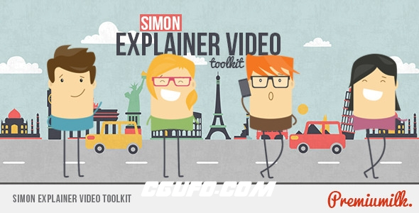 6733人物卡通角色MG动画AE模版,Simon Explainer Video Toolkit