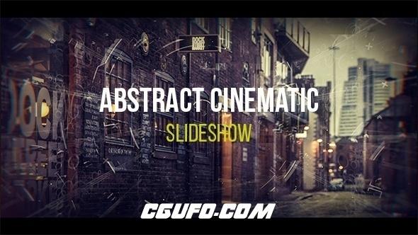 6764电影片头包装动画AE模版,Abstract Cinematic Parallax Opener | Slideshow