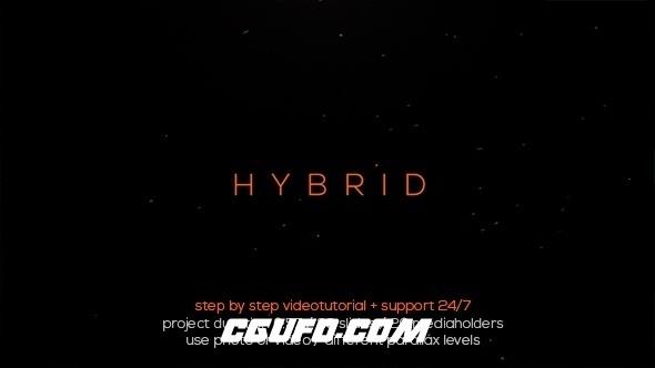 6807电影特效开场动画AE模版,Hybrid Typo Opener