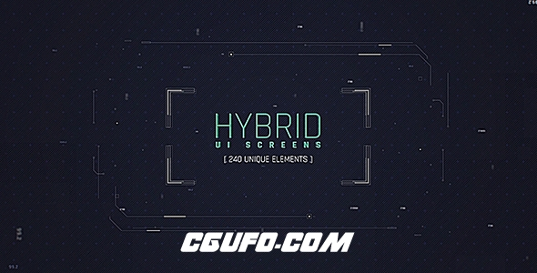 6859高科技UI界面特效动画AE模版,Hybrid Ui Screens