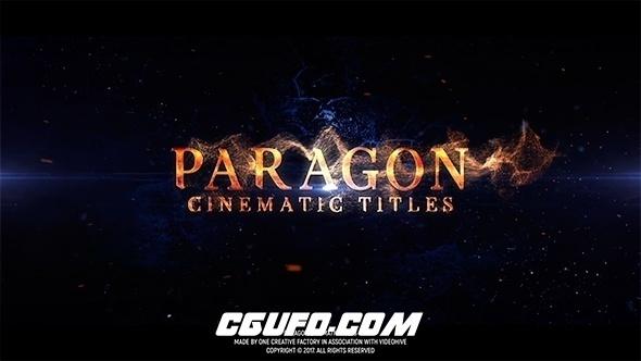 6918史诗级电影文字标题动画AE模版,Paragon Cinematic Titles
