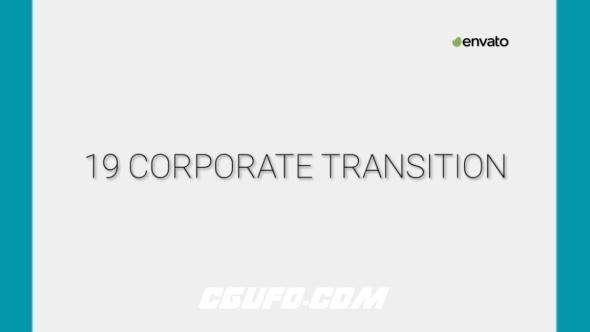 6919简洁公司企业宣传片转场过渡包装动画AE模版,Clean Corporate Transitions