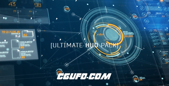 6922高科技HUD界面元素动画AE模版,Ultimate HUD Pack