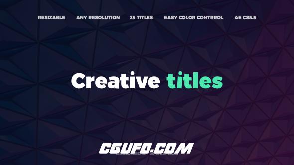 6932创意文字特效动画AE模版,The Creative Titles