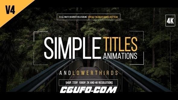 6947-30组简洁文字标题动画AE模版,30 Simple Titles