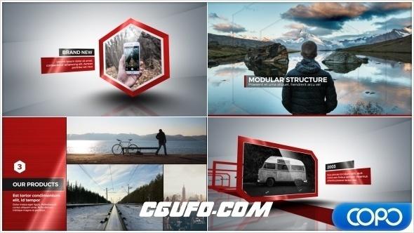 6952公司企业宣传片发展时间线动画AE模版,30 Motion Element Presets Pack