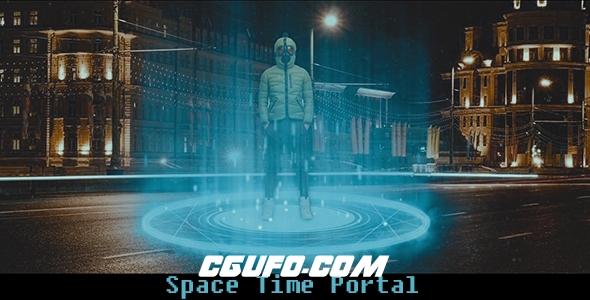 6954模拟人物时空穿梭特效动画高清视频素材带通道,Space – Time Portal