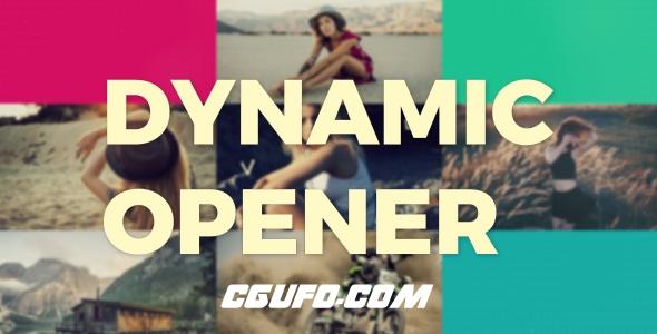 6955动态图片开场动画AE模版,Dynamic Opener