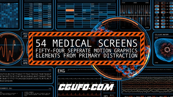 6956-54组交互式生物科技类医疗细胞人体高科技动画高清视频素材,54 Medical Screens