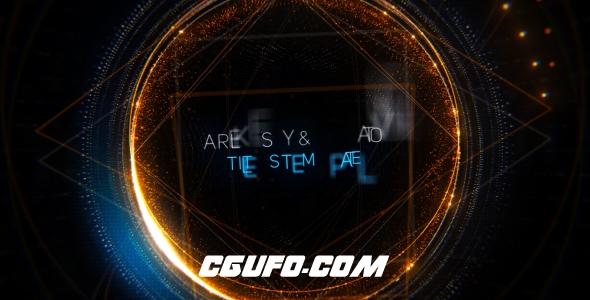 6966高科技几何文字特效动画AE模版,Geometry Titles Trailer