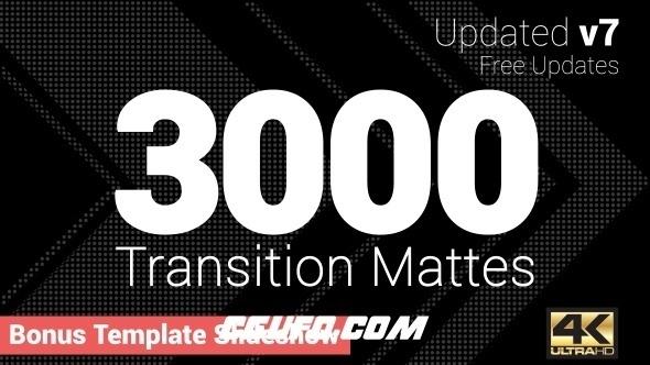 6967-3000组视频转场过渡特效动画高清视频素材,Ultimate Transition Mattes Pack (Update v7)