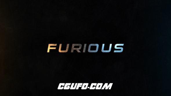 6974-50组3D文字标题动画AE模版,Furious | 50 Titles Presets