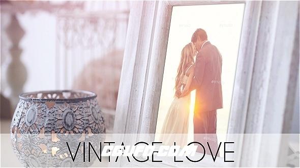 6980爱情婚礼视频MV包装动画AE模版,Vintage Love