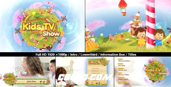 7019卡通儿童类电视栏目包装动画AE模版,Kids TV Show Pack