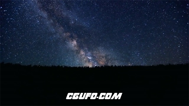2789-浪漫璀璨唯美湖畔恬静夜色星空流星云层多角度风景高清实拍视频素材