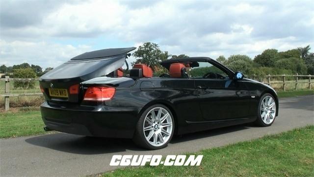 2819-宝马BMW汽车黑色时尚高科技敞篷车敞篷闭合过程记录高清视频拍摄