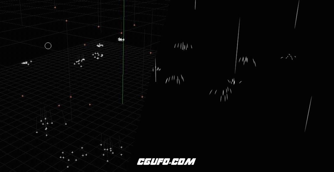 C4D粒子模拟下雨溅起水花预设 Faire de la pluie avec les particules