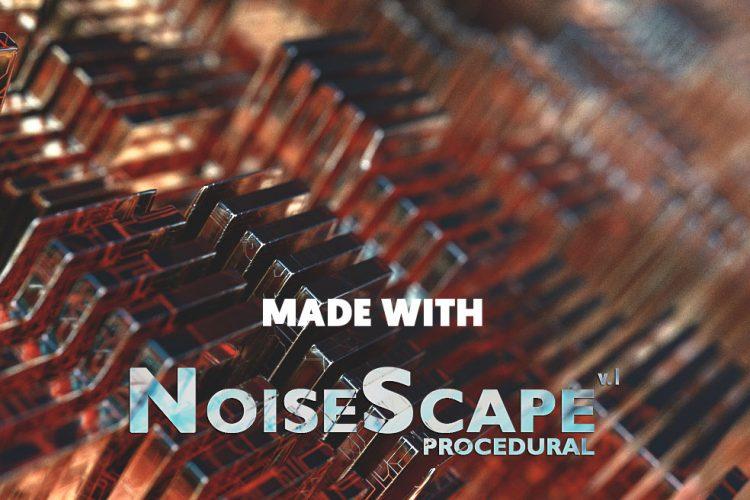 C4D图案生成模型预设 NoiseScape v.1