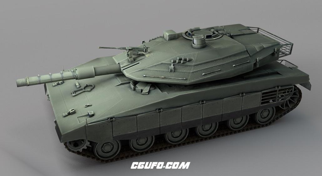 以色列国防军装备梅卡瓦主战坦克C4D模型 Merkava tank 3d model梅卡瓦主战坦克