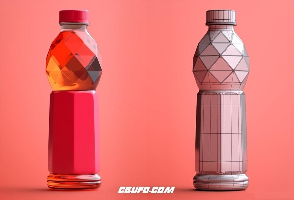 C4D塑料瓶 饮料瓶设计渲染工程文件(Arnold 渲染器)