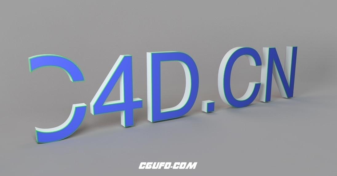 C4D使用xpresso制作的文字隐藏消失预设 Divers – Texte Slide