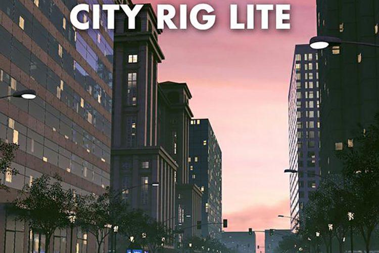 C4D城市高楼大厦低面模型预设 Xpresso Hi-rise Building