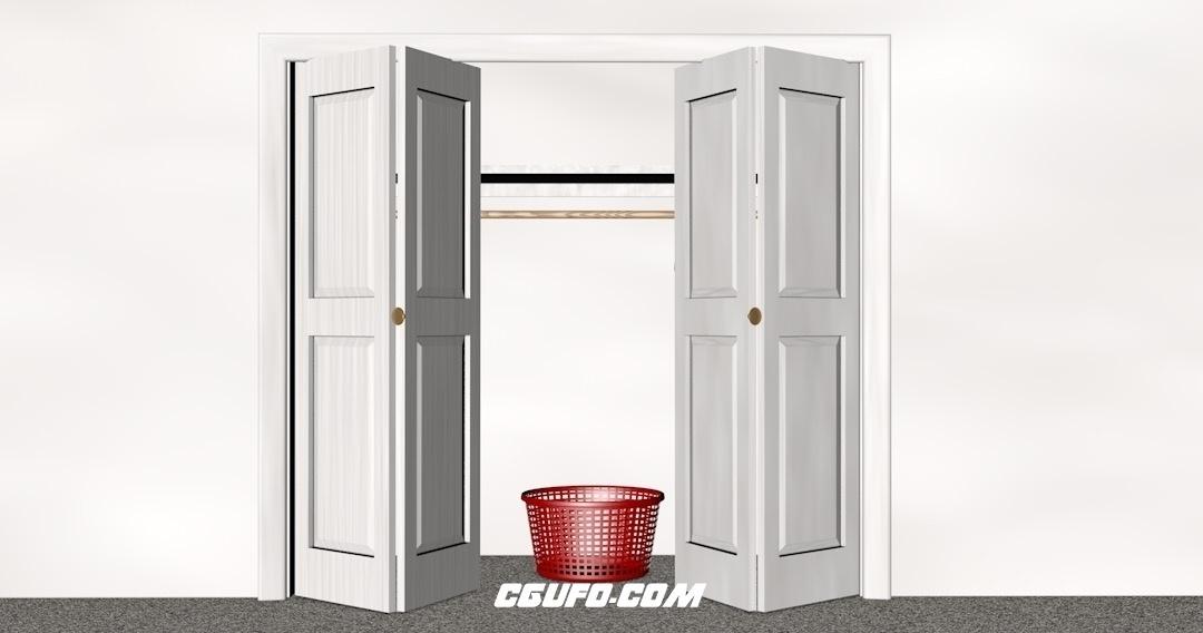 C4D双开门开门关门预设 Bi-fold Xpresso Doors