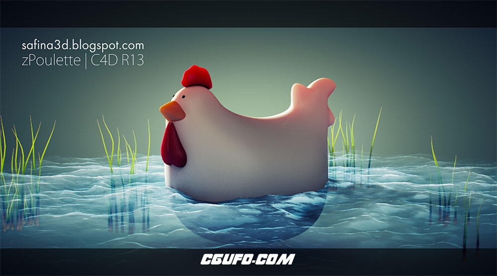 C4D卡通鸡仔生成插件 ZPOULETTE A CINEMA 4D CHICKEN GENERATOR