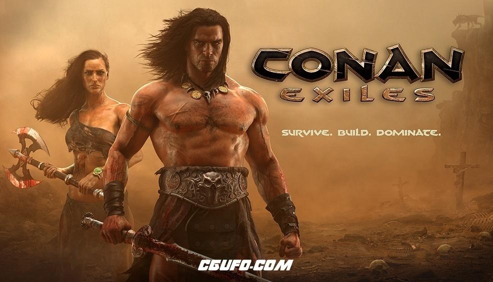 160套C4D生存类游戏《流放者柯南(CONAN EXILES)》角色动画模型合集