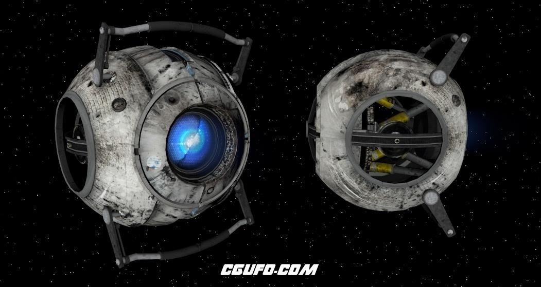太空外星飞行器C4D模型(XPresso绑定)