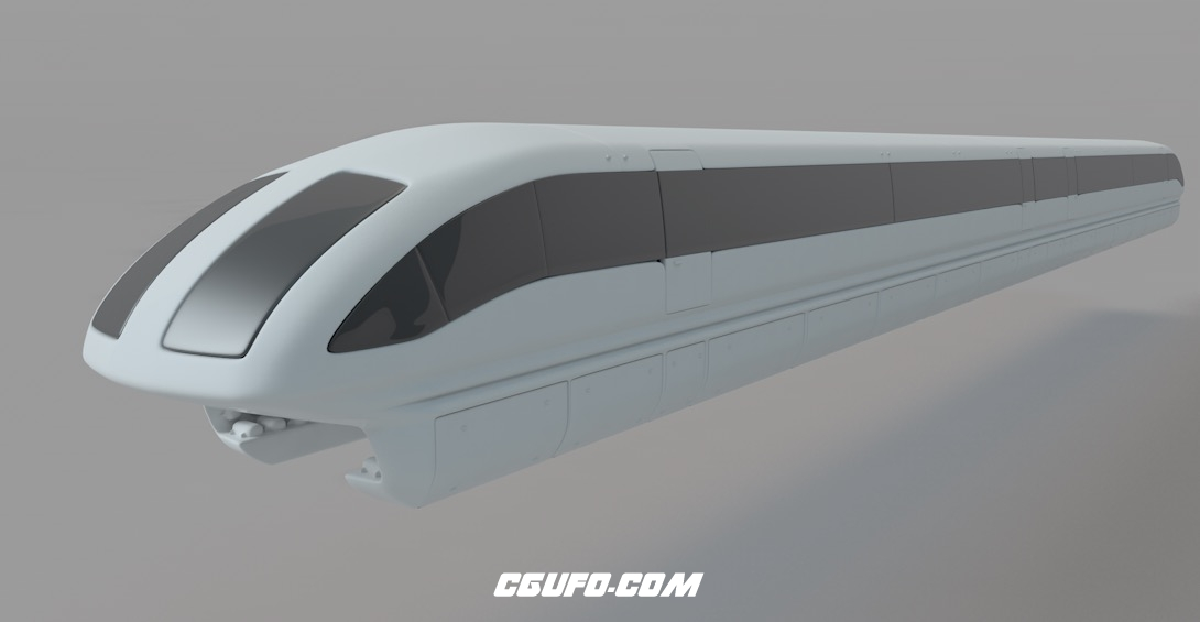磁悬浮列车C4D模型 transrapid 3d model