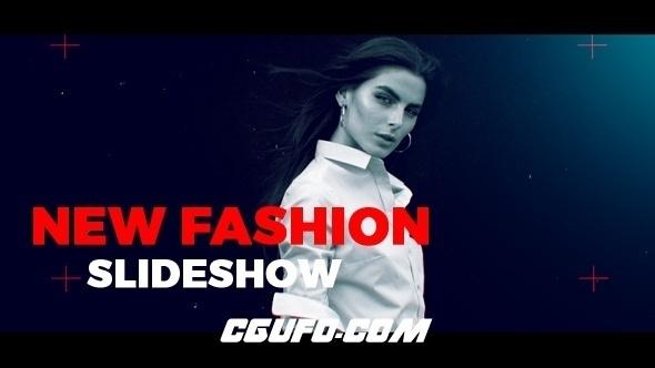 7036图片视频开场动画AE模版,Fashion Slideshow