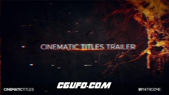 7038电影级文字标题动画AE模版,Trailer Titles