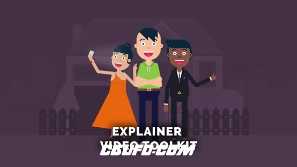7047卡通人物角色MG动画AE模版,Explainer Video Toolkit